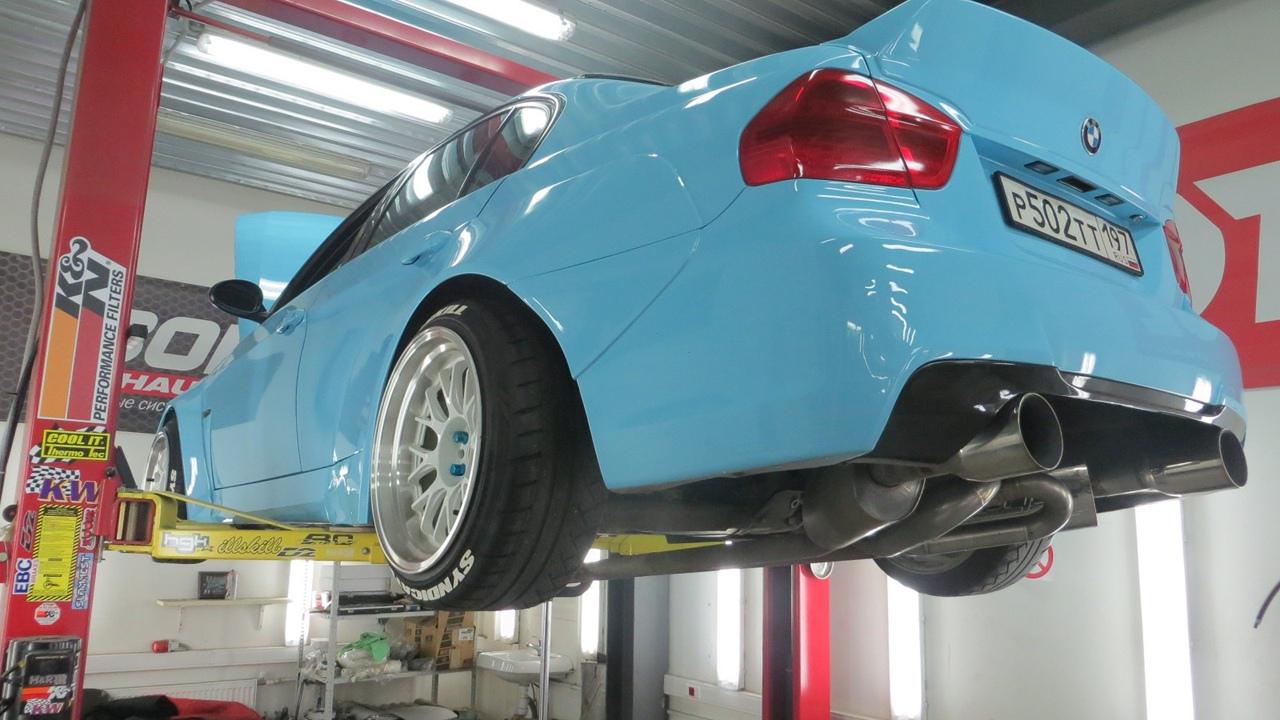 Установка равнодлинных коллекторов 3-1 на BMW E90 325